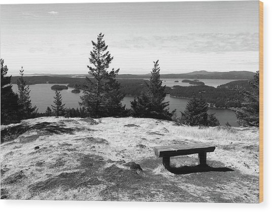 Wood Print featuring the photograph The Bench Atop Turtleback by Lorraine Devon Wilke