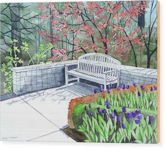The Bench Awaits - Mill Creek Park Wood Print