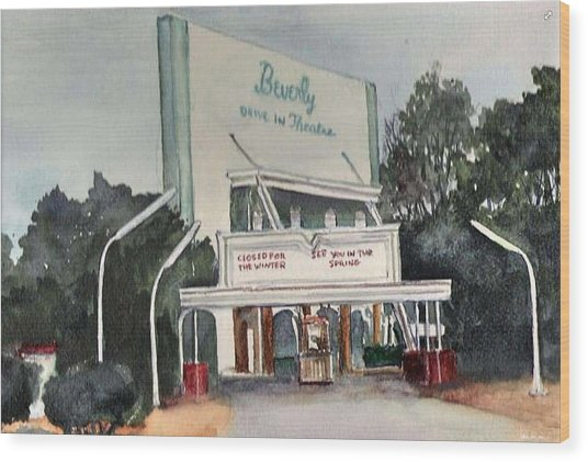 The Beverly Drive Inn Wood Print