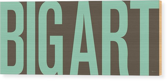 The Big Art - Pure Emerald On Cotton Wood Print