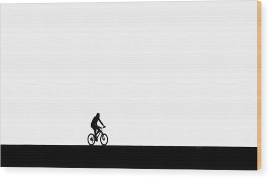 The Bike Ride  Wood Print
