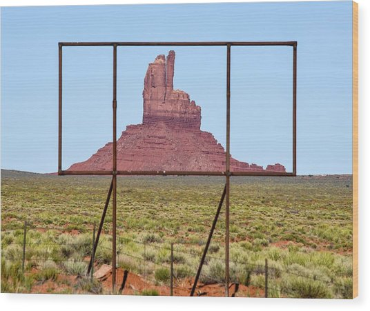 Utah Billboard Wood Print