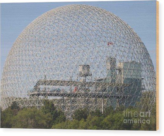 The Biosphere  Ile Sainte-helene Montreal Quebec Wood Print