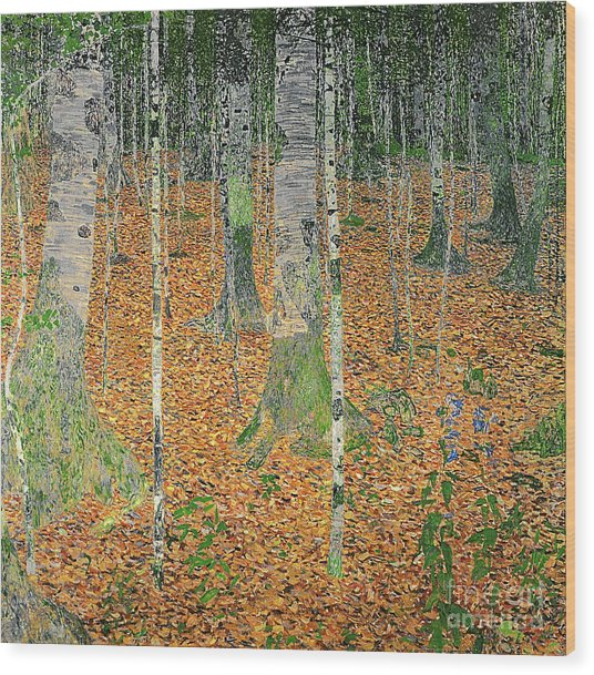 The Birch Wood Wood Print
