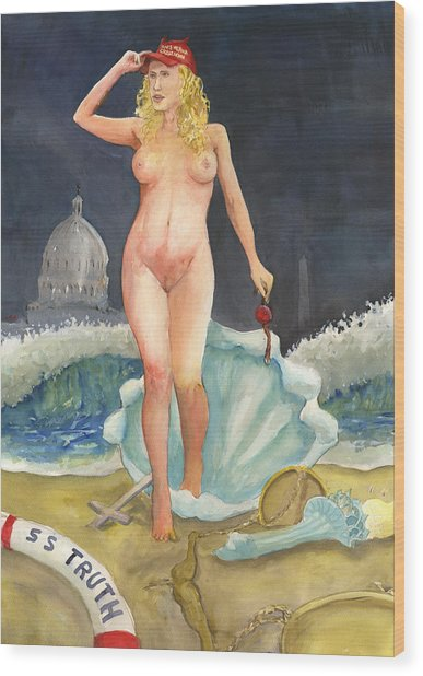 The Birth Of Stormy Rise Of The New Moral Wood Print