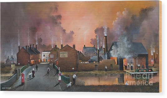 The Black Country Village Wood Print