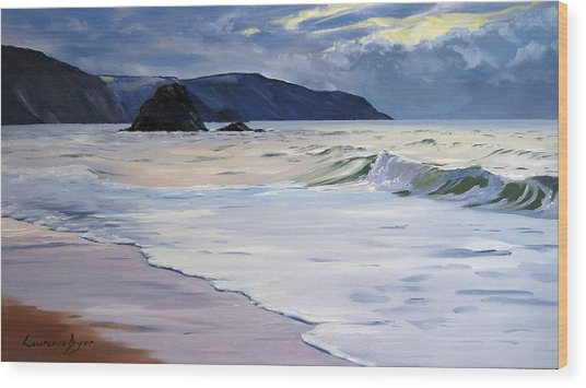 The Black Rock Widemouth Bay Wood Print