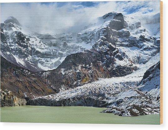 The Black Snowdrift Glacier Wood Print