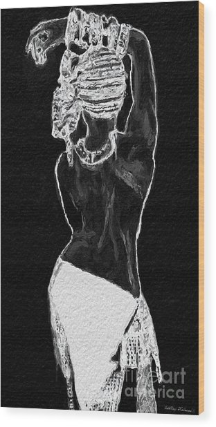 The Black Women's Struggle Wood Print