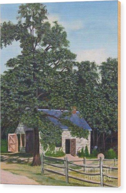 The Blacksmith Shop Wood Print by Donald Hofer