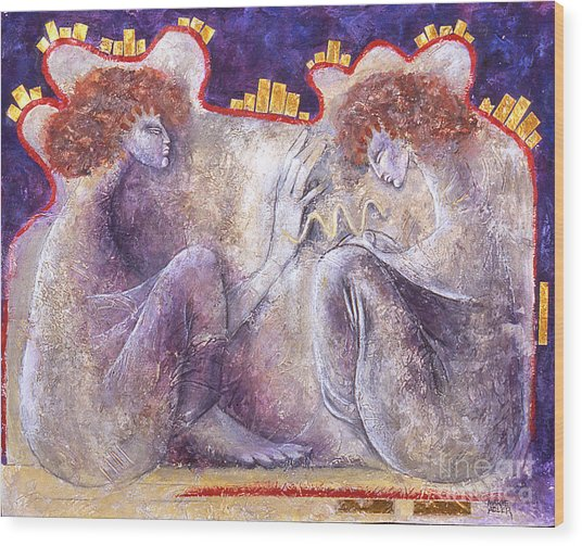 The Blessing Wood Print by Marne Adler