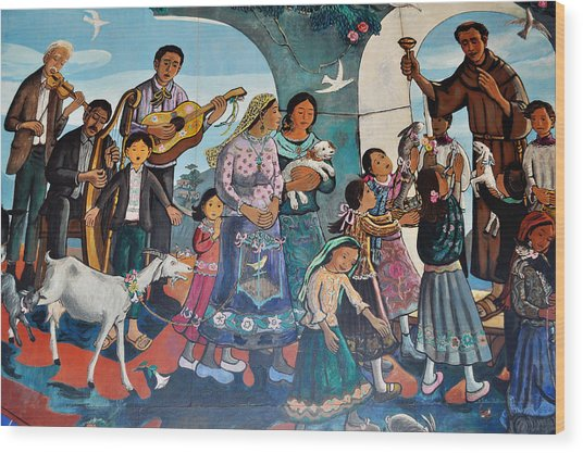 The Blessing Of Animals Olvera Street Wood Print
