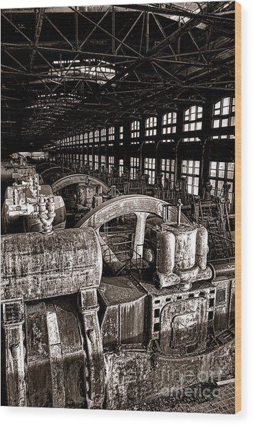 The Blower House At Bethlehem Steel  Wood Print