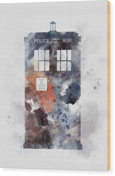 The Blue Box Wood Print