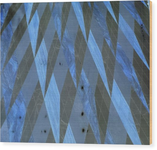The Blue Dimension Wood Print