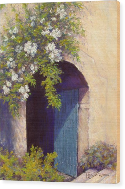 The Blue Door Wood Print by Tanja Ware