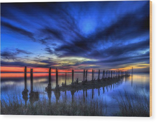 The Blue Hour Comes To St. Marks #1 Wood Print
