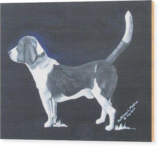 The Blue Knight Wood Print