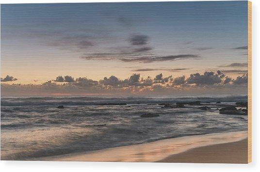The Blues - Sunrise Seascape  Wood Print