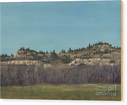 The Bluffs Wood Print