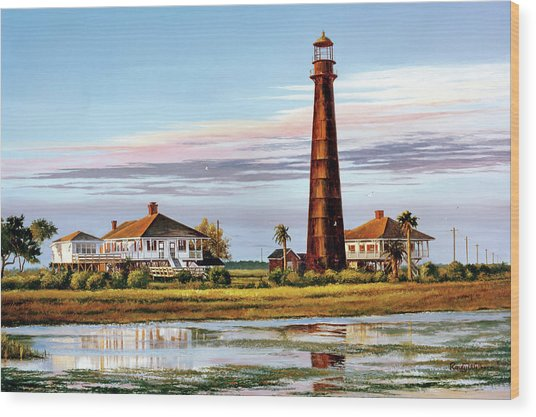 The Bolivar Lighthouse Wood Print