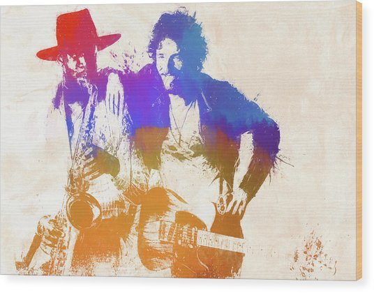 The Boss And The Big Man Wood Print