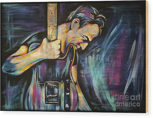 The Boss Bruce Springsteen Wood Print