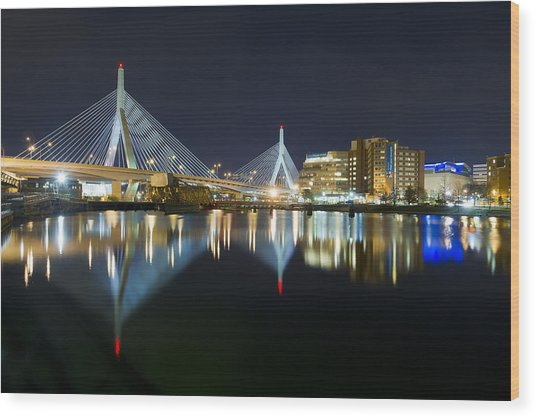 The Boston Bridge Wood Print