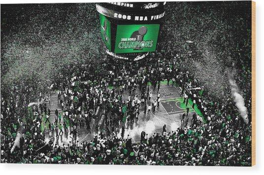 The Boston Celtics 2008 Nba Finals Wood Print