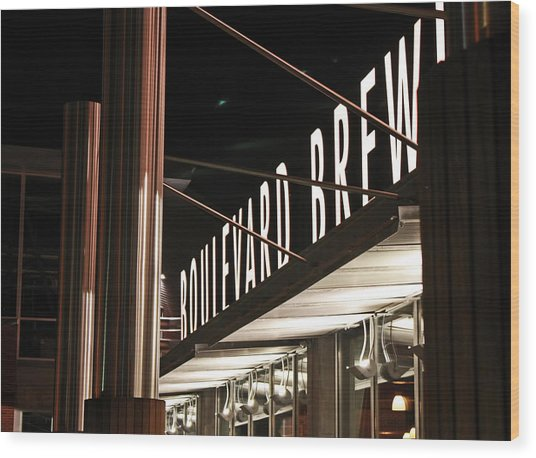 The Boulevard Deck Wood Print