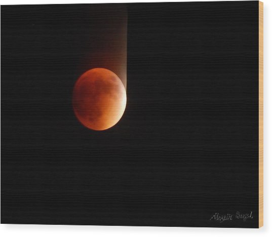 The Bouncing Eclipse Wood Print