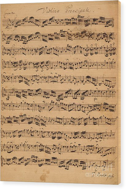 The Brandenburger Concertos Wood Print