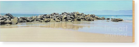 The Breakwater Wood Print