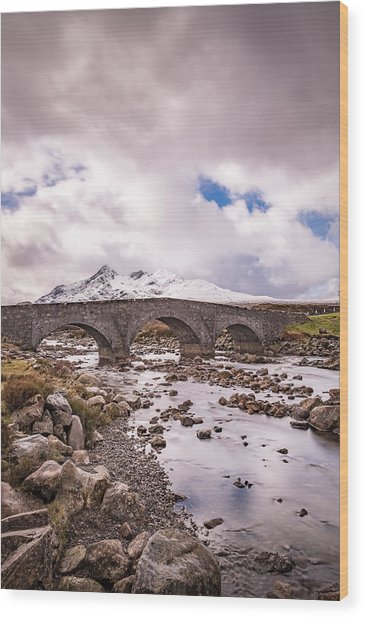 The Bridge At Sligachan On Skye Wood Print