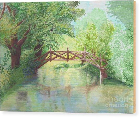 The Bridge Wood Print