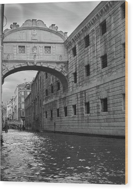 The Bridge Of Sighs, Venice, Italy Wood Print
