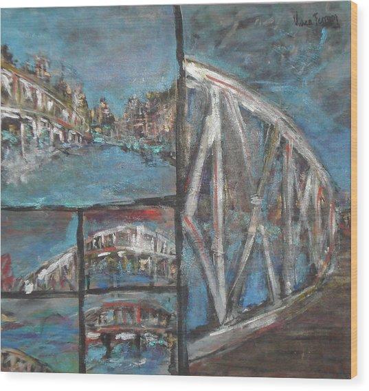 The Bridge Wood Print by Vivien Ferrari