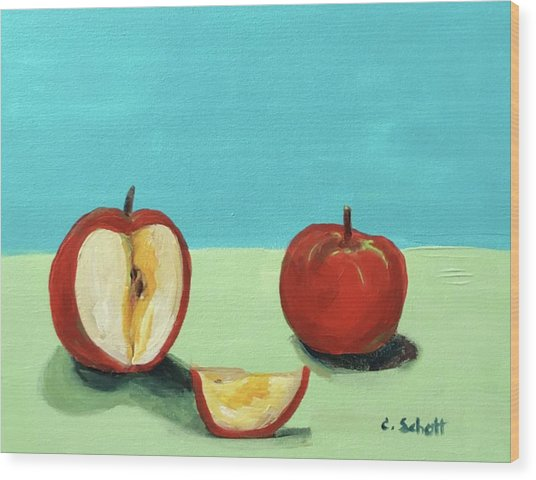 The Brilliant Red Apples With Wedge Wood Print