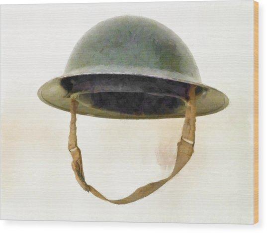 The British Brodie Helmet  Wood Print