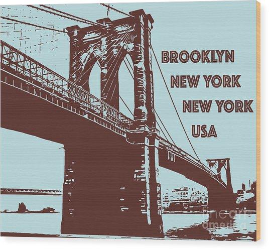 The Brooklyn Bridge, New York, Ny Wood Print