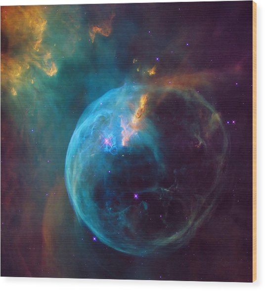 The Bubble Nebula Ngc 7653 Wood Print