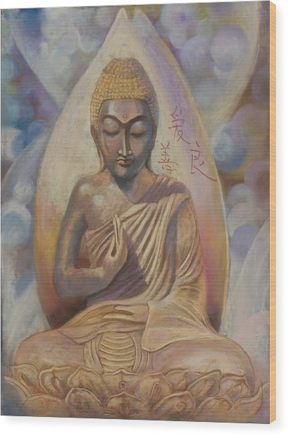 The Buddah Wood Print