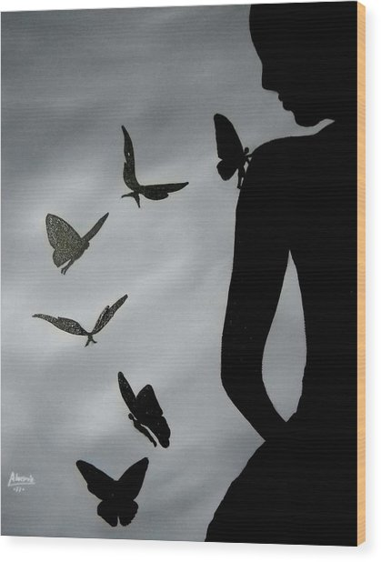 The Butterfly Men Wood Print