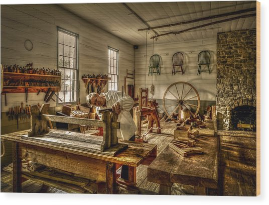 The Cabinetmaker Wood Print