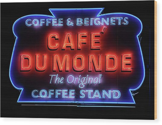 The Cafe Du Monde Wood Print by JC Findley