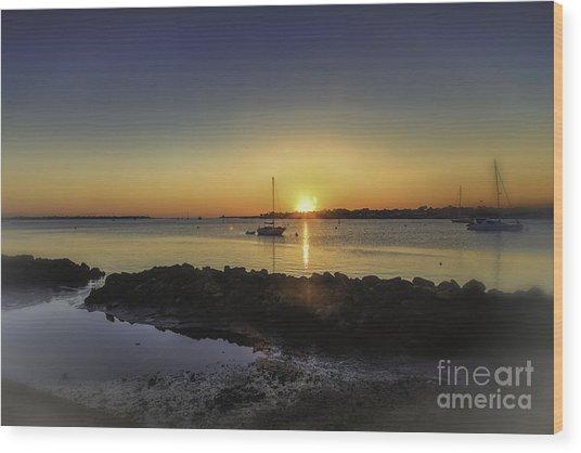 The Calm At Sunrise Wood Print