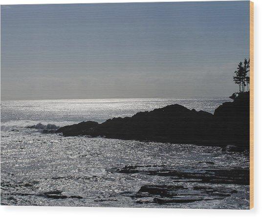 The Calming Sea Wood Print