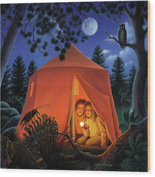 The Campout Wood Print