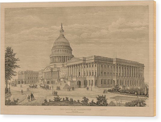 The Capitol At Washington Wood Print