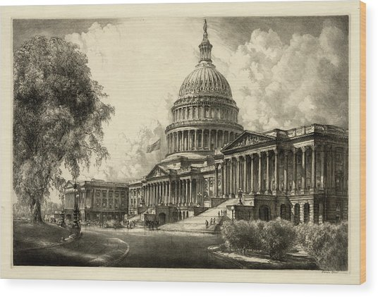 The Capitol, Washington Wood Print